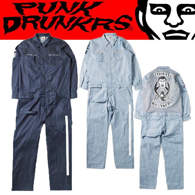 (先行予約)PUNK DRUNKERS パンクドランカーズxZarigani Works 工作つなぎ【17春夏】1月末入荷予定