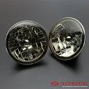 高品質!クリスタルスモークヘッドライト ジムニー(SJ30 SJ40 JA51 JA71 JA11 JB31 JA12 JA22) / ガラスヘッドライト H4タイプ