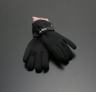 OK 羽量級冬季保暖手套子午線黑色自行車冰冷的手包 3m Thinsulate × 氯丁二烯橡膠