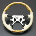 エルグランド E51 [2002/5〜2010/7] スポーツタイプ ウッドコンビステアリング (黄木目/ベージュ) / steering ハンドル ホイール