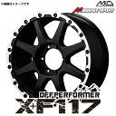 オフパフォーマー X+F117 アルミホイール(1本) 17x7.5 +28 139.7 6穴(セミグロスブラック リムDC) / 17インチ Off Performer XF117