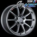 SSR GTV-02 アルミホイール(1本) 18x7.5 +48 100 5穴(グレアシルバー) / GT ジーティー 1ピース 1PIECE 1P GTV02 18インチ
