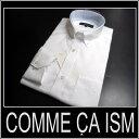 コムサイズム /長袖ドレスシャツ シャドーストライプ/ 白【XS】【S】【M】【L】【XL】 ボタンダウン COMME CA ISM sssaaa/05P05Nov16