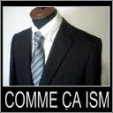 ★●【送料無料】/【あす楽対応!】【S】コムサイズム COMME CA ISM/ストライプスーツ 高品質 Wool rich blend /黒 ck