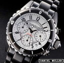 Daniel Muller DANIEL MULLER black chronograph men watch DM-1002WH is free shipping [I write a review and present a band adjustment tool]