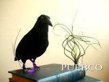 PUEBCO Crow L280 リアルなカラスオブジェ 置物 鳥 黒雑貨通販【RCP】