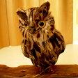 PUEBCO Owlふくろう ブラウン(L) プエブコ フクロウ(ミミズク)のオブジェ 置物まるで剥製のようにリアル♪雑貨通販【RCP】