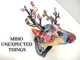 カラフルな北欧デザイン シカの壁飾りIt's a Gem! MIHO mini147  DesigninItaly MDF板を組み立てて作る鹿オブジェ 雑貨通販【RCP】