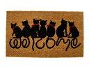 7匹のネココイヤーマット 玄関マット泥落としマットウェルカムマット雑貨通販【RCP】
