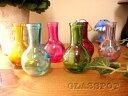 カラフル ガラス瓶 イエロー・パープル・グリーン・ブルー フラワーポットフラワーベースボトルビン