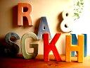 ★カラフル陶器の壁掛けアルファベット ガーデニングに♪ 雑貨通販【RCP】置物 オブジェローマ字数字アルファベットイニシャル