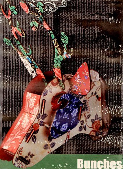 ドイツ製イタリアデザイン★ カラフルな北欧デザイン シカの壁飾り MIHOBunchesCapri1 DesigninItaly MDF板を組み立てて作る鹿オブジェ鹿頭真ウォールデコwalldecoration雑貨通販【RCP】