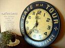 アンティークテイスト カフェクロックネイビー フランスのカフェにありそうな時計フレンチ 新築祝いギフト贈り物にオススメのし対応 /壁掛け時計雑貨通販【RCP】