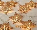 LEDメタルガーランド Star ブロンズ 星ランプイルミネーションスターコードランプ 雑貨通販LEDランプ【RCP】