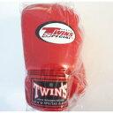 新TWINS ツインズ 本革製キックボクシング グローブ 赤 14オンス