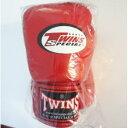 新 TWINS ツインズ 本革製 キックボクシング グローブ 赤 10オンス