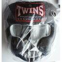 新TWINS ツインズ 本革製キックボクシングヘッドギア ヘッドガード 黒 Lサイズ