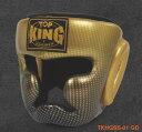 トップキング TOP KING キックボクシング ヘッドギア スーパースター 金 Mサイズ