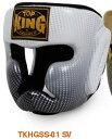トップキング TOP KING キックボクシング ヘッドギア スーパースター 銀 Mサイズ