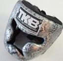 トップキング TOP KING キックボクシングヘッドガード ヘッドギア SNAKE 銀黒 Sサイズ
