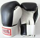 【送料無料】レディース&キッズ グローブ 女性 子供用 黒・白 Mサイズ (高級レザー) ボクシング キックボクシング用 GLOBAL SPORTS グローバルスポーツ