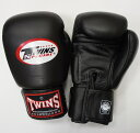 新TWINS ツインズ 本革製キックボクシング グローブ 黒 8オンス