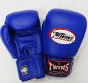 新TWINS ツインズ 本革製キックボクシング グローブ 青 14オンス