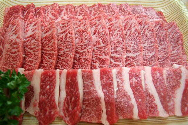 四万十牛焼肉盛り合わせ(500g)