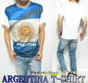 Tシャツ メンズ 半袖 アルゼンチン 国旗 プリント メ