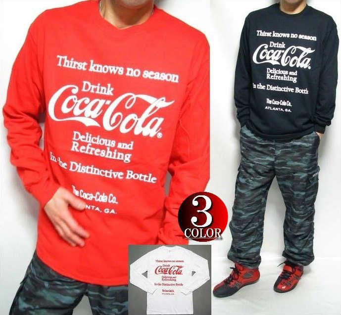 コカコーラ Tシャツ グッズ ロンT メンズ 長袖 コカ・コーラ Coca-Cola