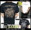 ED HARDY エドハーディー 半袖 Tシャツ メンズ スタッズ/ラインストーン ラブキル スカル ブラック/ホワイト M-XL