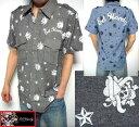エドハーディー ed hardy エド・ハーディー 半袖シャツ メンズ ラブキル/スカル チャコール/ブルー 2カラー M-XXL