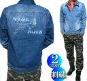 Gジャン/デニム ジャケット 刺繍/セクシーガール メンズ ライトアウター ジャンパー ジャケット M-L