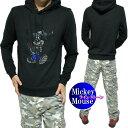 ショッピングミッキー パーカー メンズ ミッキーマウス/ディズニー ラインストーン スケボー プルオーバー 薄手 メンズファッション