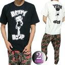 ベティーブープ Tシャツ メンズ モノクロ/セクシー 半袖 ブラック/ホワイト betty boop ビッグサイズ M-XXL