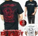 エドハーディー ed hardy エド・ハーディー 半袖 Tシャツ 刺繍/デビル/小悪魔 ブラック ホワイト 3カラー メンズ M-XL