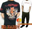 エドハーディー ed hardy エド・ハーディー 半袖 Tシャツ メンズ 星条旗 ウイング デビル 小悪魔 かわいい ブラック/ホワイト 2カラー M-XL