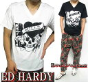 エドハーディー ed hardy エド・ハーディー 半袖 Tシャツ メンズ ラブキル/モノクロ ドクロ/スカル ブラック/ホワイト M-XL