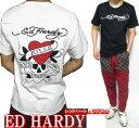 エドハーディー ed hardy エド ハーディー 半袖 Tシャツ メンズ ラブキル/レッドハート ドクロ/スカル ブラック/ホワイト M-XL