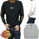 エドハーディー ed hardy 袖/ゴールド トレーナー/クルーネック メンズ 刺繍ロゴ 長袖 サイズM-XL