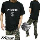 Roen ロエン メンズ Tシャツ 半袖 ドクロ/スカル LEGENDARY SKULL ブラック S-XL ROA-005