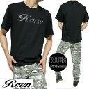 Roen ロエン Tシャツ メンズ 半袖 ロゴ/プリント ブラック ROA-003