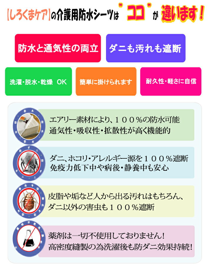【2枚組】 介護用 敷布団カバー うす型 マッ...の紹介画像2