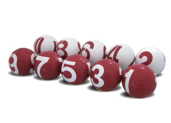【待望の新発売 送料無料】ゲートボール ニチヨー NICHIYO 数字 3面公認球 10個セット GB-3 ゲートボール用品【 02P18Jun16 】