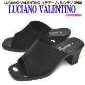 ルチアーノ バレンチノ 3900 LUCIANO VALENTINO レディース オフィスサンダル 6cm美脚ヒール 安定ヒール 超人気商品 黒