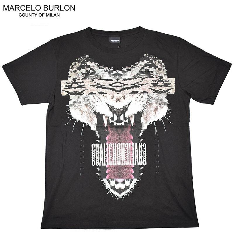 【2点で5%OFFクーポン配布中!】MARCELO BURLON マルセロバーロン GUISAブラック半袖Tシャツ 2016SS CMAA018s16001045 イタリア正規品【夏フェス】【あす楽対応】【sybp】 05P18Jun16