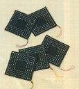オリムパス 刺し子232 (鉄紺) コースター・収納袋 刺し子キット
