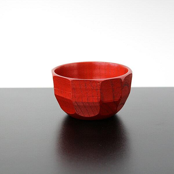 カット小鉢 朱スリ 小 (木製 漆器 漆塗り)
