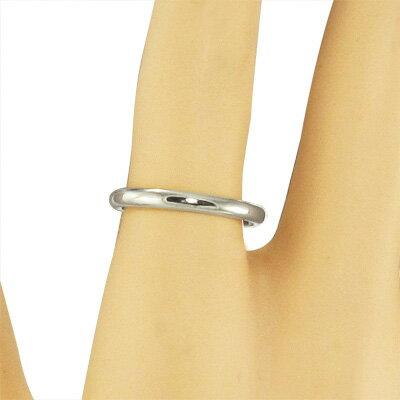 丸い指輪 18kゴールド 地金 約2.6mm幅 (ホワイトゴールド イエローゴールド ピンクゴールド) 【_包装】【送料無料】 丸い指輪 約2.6mm幅
