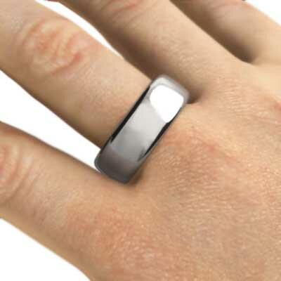 【送料無料】【_包装】甲丸の指輪 メンズ スタンダード ゴールドk10 約7mm幅 大きめサイズ 厚さ約2mm (ホワイトゴールド イエローゴールド ピンクゴールド) 約7mm幅 大きめサイズ 厚さ約2mm スタンダード 甲丸の指輪 メンズ